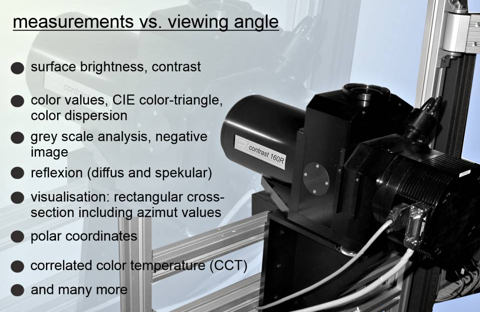 EZ Contrast - to measure luminance distribution resolved by viewing angle
