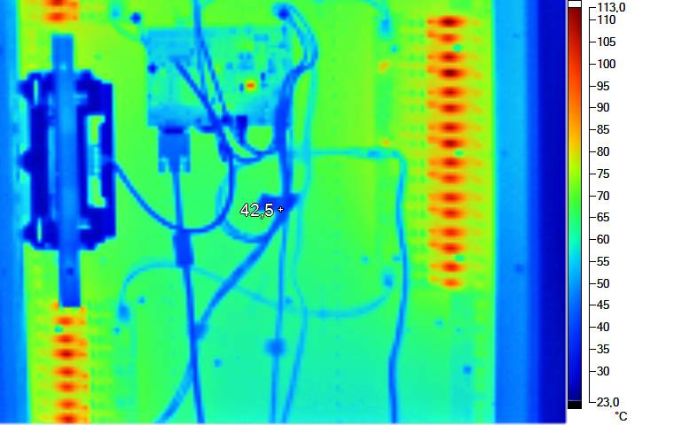 Thermography of a display head